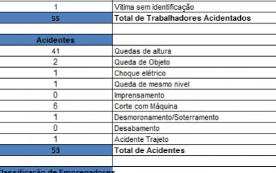 ACIDENTES DE TRABALHO – 2013