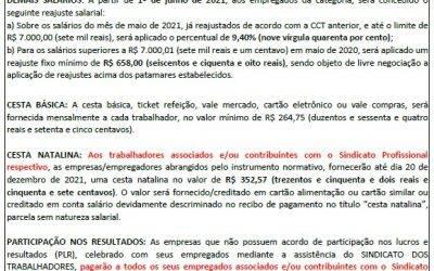 TABELA SALARIAL 2021/2022 – ARTEFATOS DE CIMENTO X SINDICAF